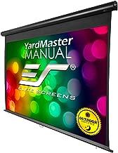 "Elite Screens Yard Master Manual, 100-inch Indoor Outdoor Rain Water Protection Projector Screen 16:9, 8K 4K Ultra HD 3D Movie Theater Cinema 100"" IP-65 Mildew Resistant Projection Screen, OMS100HM"