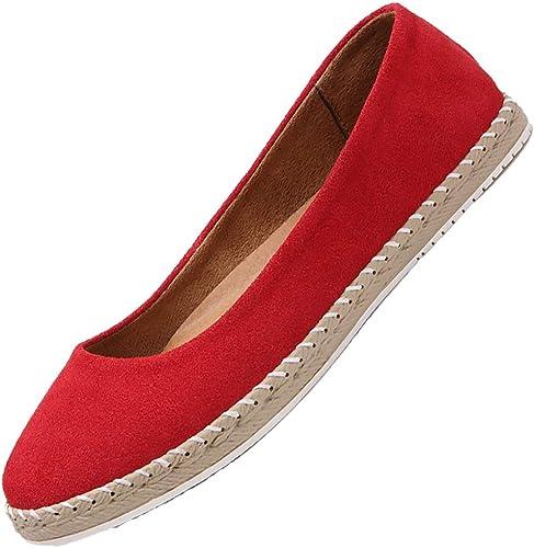 chaussuresES Chaussures Plates Occasionnelles Pour Femmes Chaussures De Marche Légères Et Confortables Résistant à L'usure,rouge,36