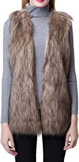 Best grey fur vest Reviews