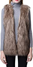 Escalier Women's Faux Fur Vest Waistcoat Sleeveless Jacket