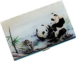 Panda Pattern Business Case Porte-cartes pour hommes et femmes