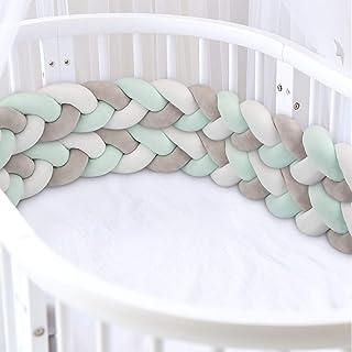 verde) blanco MOOING Trenza Protector de Cuna Trenzado Cuna Bebe Parachoques 78.7 Pulgadas //200cm Parachoques,Protector Cuna para Proteger Bebe y Decorar la Cuna(Gris