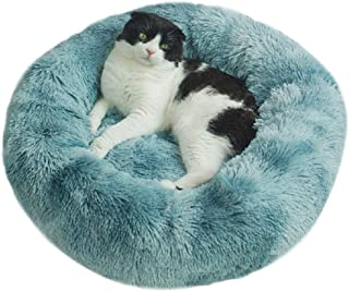 YATG Cat Beds Dog Bed Calming Donut Cuddler Round Dog Bed Soft, Washable, Comfortable, Non-Slip Pet Bed for Large Medium S...