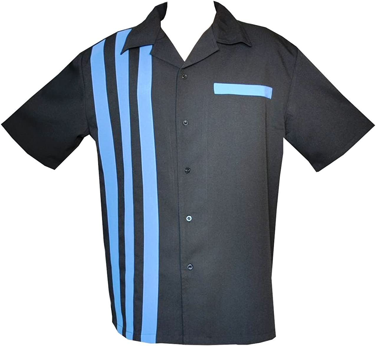 San Diego Mall Attila Bowling Shirt Max 47% OFF Big and Tall BluRef Charlie 50s Sheen Retro