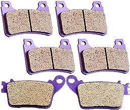 SCITOO Carbon Fiber Brake Pads Fit for 06 07 08 09 10 11 Honda CBR1000RR,07 08 09 10 11 Honda CBR600RR