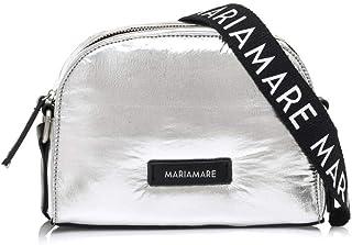 Mariamare MAKANI, Bolso bandolera para Mujer, Plateado (Nylon Metalico Plata), 7x16x21 cm (W x H x L)