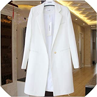 High end Spring Autumn Women Blazers and Jackets Casual Long Suits Wide Waisted Solid Female Jacket,