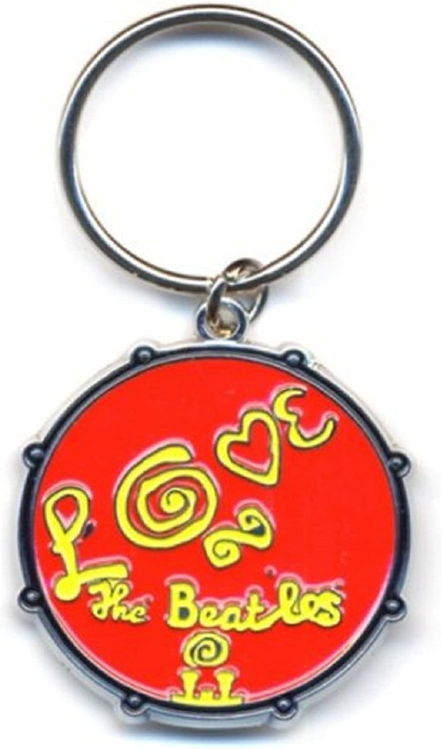 The Beatles Keyring Keychain Love Drum Band Logo Official Metal Size One Size