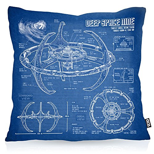 VOID Deep Space Nine Kissenbezug Kissenhülle Outdoor Indoor Trek Trekkie Star, Kissen Größe:40 x 40 cm