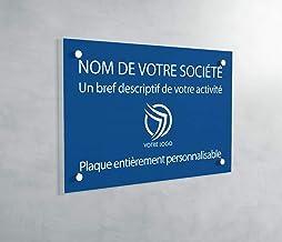Professionele PVC-plaat, personaliseerbaar, 30 x 20 cm, verkrijgbaar in 21 kleuren (blauw)