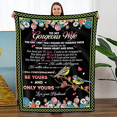 Manta para mi hija / hijo de mamá papá Edredones impresos con letras inspiradoras Mantas lana Manta personalizada para correo aéreo Regalos cumpleaños Mantas para cama Sofá Sala estar,W,150*220cm