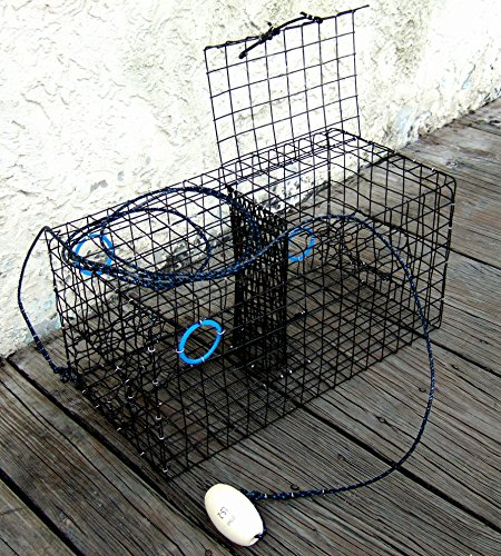 Joy Fish Maryland Blue Crab Pot Trap, PVC Coated Wire mesh, Heavy Duty