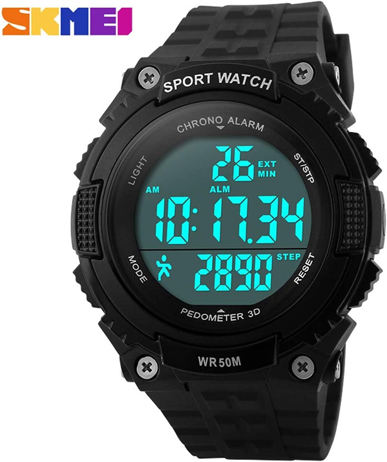 Waterproof Timing Multi-Function Outdoor Sports Electronic Watch Fashion Personality Student Watch Comfortable
