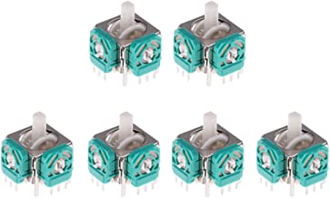 Prettyia 6Pcs Analog Stick Joystick For GameCube NGC Controller Video Game Accessories