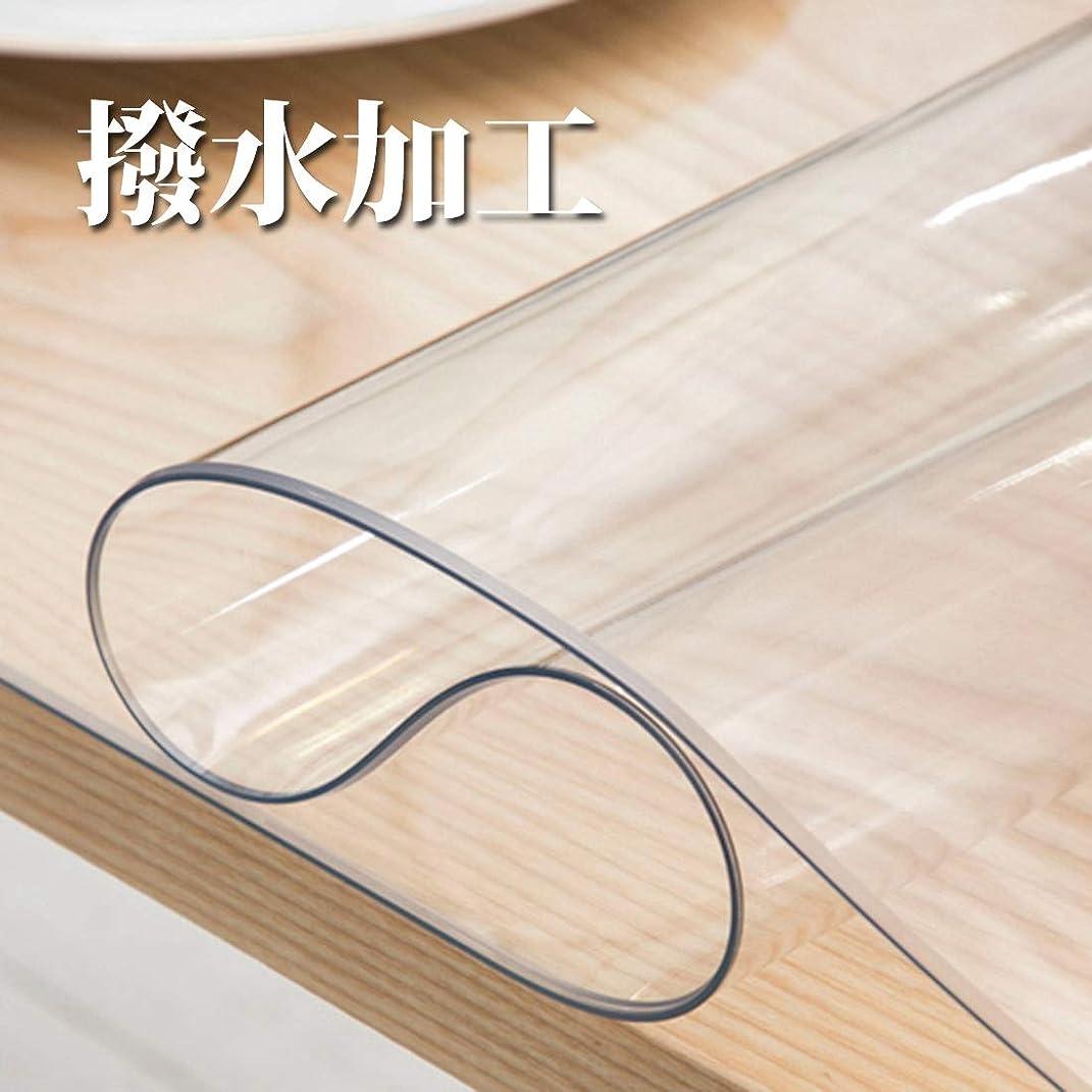 染色霜救いテーブルクロス PVC ,WISH SUN【新改良 耐久性アップ】 撥水加工 透明 テーブルマット 斬新感 テーブルカバー 汚れつきにくい 60*120cm