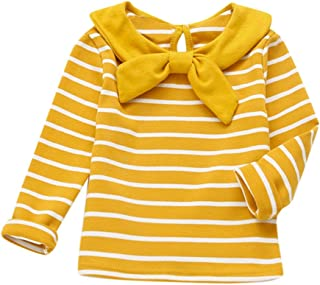 382a259c4b9 Sweatshirt Bébé CIELLTE Vêtements de Enfant Rayure Stripe Filles Garçons  Bowtie Col Haut Top Sweat Pull