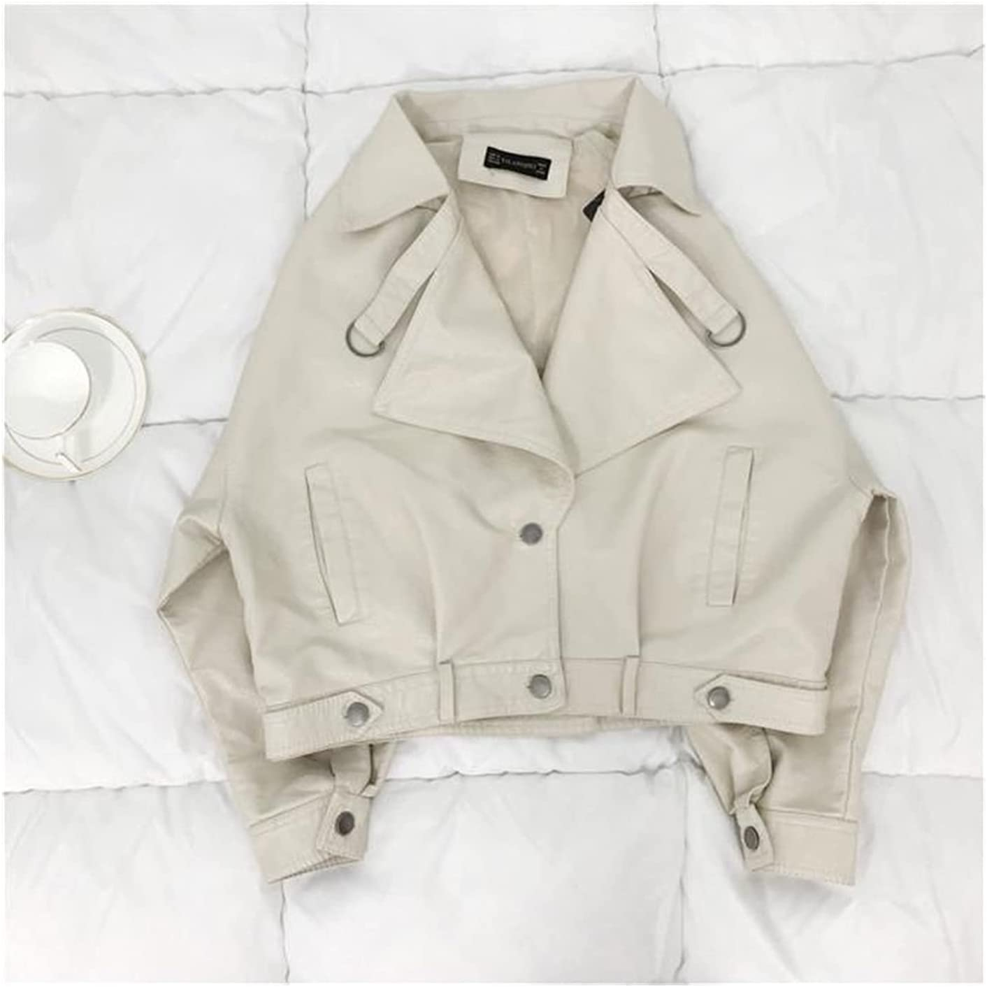 Loose Pu Sacramento Mall Leather Batwing Sleeve Ca Jacket OFFicial store Vintage Street