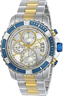 Men's Pro Diver Quartz Watch with Stainless-Steel Strap, Two Tone, 22 (Model: 23994)