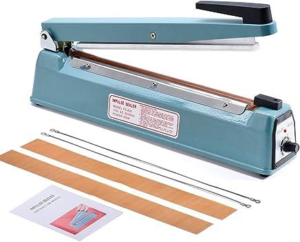 Metronic 16inch/400mm Manual Impulse Manual Hand Sealer Heat Sealing Machine Poly Tubing Plastic Bag