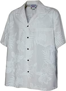 Mens White Wedding Tropical Floral Hawaiian Shirt