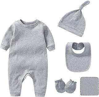 Infant Layette Gift Outfit 6 Piece Orangic Cotton Clothes & Accessories Set