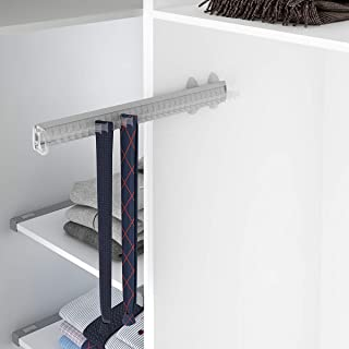 Casaenorden - Perchero extraíble para Corbatas y Cinturones - Corbatero cinturonero, ABS Negro