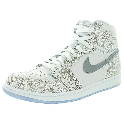 866115b2092b70 Men s Nike Air Jordan 1 Retro Hi OG Laser Basketball Shoes