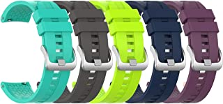 5 Pc- Replacement Sports Silicone Watch Band Wrist Strap for Huawei Watch GT2 46mm / Samsung Galaxy Watch 3 (45mm) / Honor...