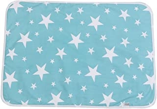 Huhushop Ultra-soft Large Washable Baby Changing Pad Mats Baby Cotton Urine Mat Diaper Nappy Bedding Changing Cover Pad Disposable Sanitary Baby Infant Toddler Diaper Liners Covers(#C Dream stars)