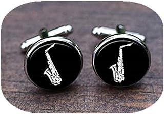 Leonid Meteor Gemelos de saxofón de ducha, gemelos de saxofón, gemelos de saxofón, regalo de boda, adornos de cristal, pur...