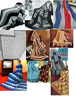 Vintage Knitting Afghan Patterns - 36 Homemade Knit Afghan Patterns - Baby Knit Afghan, French Poodles Afghan, Leaf Patter...