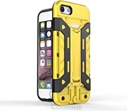 Cocomii Transformer Armor iPhone 8/iPhone 7 Case New [Heavy Duty] Built-in Multi Card Holder Kickstand Shockproof Bumper [Military Defender] Full Body Cover for Apple iPhone 8/iPhone 7 (T.Yellow)