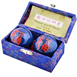Feng Shui Baoding Chinese Health Exercize Stress Relief Balls 4.2cm/1.7' Fengshuisale Red String Bracelet F1107