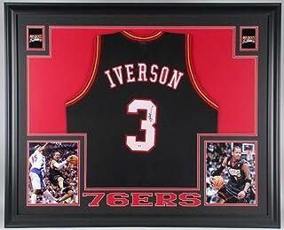 3c2da7459 Allen Iverson Autographed Signed Autograph Philadelphia 76ers 35 X 43  Custom Framed Jersey JSA Authentic Certificate