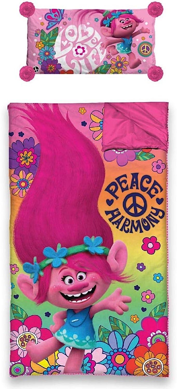DreamWorks Trolls 2 Piece Slumber Bag Pillow Set