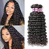 BLISSHair Curly Brazilian Hair 3 Bundles Natural Remy Human Extension Virgin Hair Deep Wave Weave 200g Extension Pelo natural (10 10 10 Inches)
