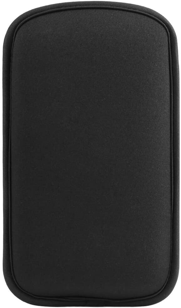 Black Soft Neoprene Cellphone Carrying Sleeve Cover Purse for iPhone Xs Max/Samsung Galaxy Note9 / LG V40 / G7 ThinQ/Stylo 4 / Google Pixel 3 XL (Black, Large)