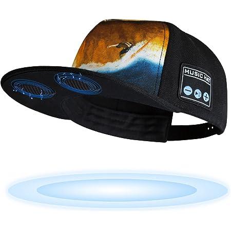 TOUCH TWO Wireless Bluetooth 5.0 Speaker Hat/Music Cap with (Inbuilt Microphone) Wireless Smart Speaker Hat/Cap for Outdoor/Indoor Sports. Best Gift for Men/Women/Boys/Girls (Lava)