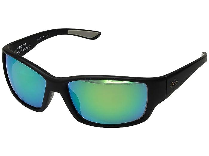 Maui Jim  Local Kine (Soft Black/Dark Transparent Green/Light Transparent Grey/Mauigre) Fashion Sunglasses
