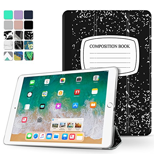 TNP iPad Pro 10,5 Funda – Ultra Slim Ligero Smart Shell Folio Funda con Soporte multiángulo, Smart Auto Wake/Sleep para Apple iPad Pro 10,5 2017 Tablet Libro de composiciones
