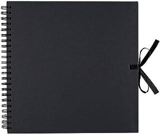 Artemio 11010013 Album de Scrapbooking en Kraft Noir 30 x 30 cm, Carton, 30 cm x 30 cm