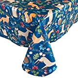 Newbridge Woodland Critters Autumn and Fall Print Vinyl Flannel Backed Tablecloth - Squirrels,...