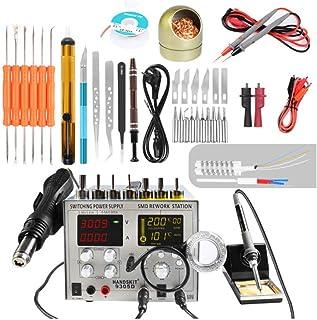 WANGOFUN Kit de Soldador Herramienta de Soldadura de Temperatura Ajustable, multímetro Digital con Puntas de