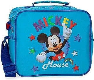 Disney Mickey Stars Trousse de toilette adaptable à Trolley avec bandoulière Bleu 25x19x10 cms Microfibre