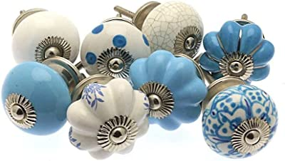 Paisley design green color ceramic Knob Handprinted Cabinet pulls Cupboards Dresser Drawers Knob Price is for 1 knob OMK006