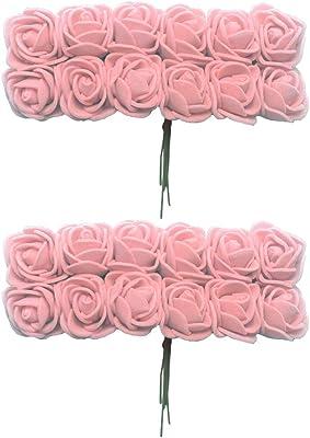 288x Artificial Miniature Foam Rose Flowers Wedding Bouquet DIY Decoration