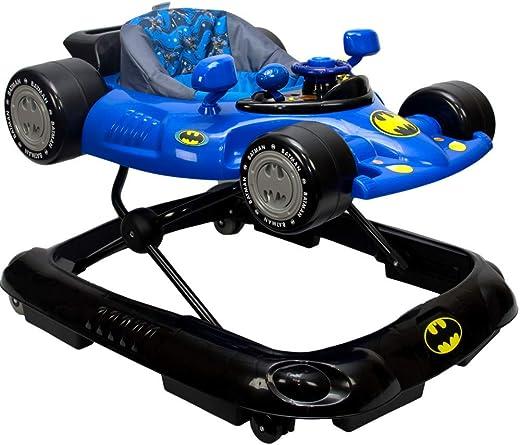 KidsEmbrace Batman Baby Activity Walker, DC Comics Car, Music and Lights, Blue