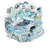 FENGLING Cartoon Blue Ins Style Girl Stickers for Laptop Skateboard Luggage Refrigerator Notebook Laptop Toy Sticker 50 Pcs