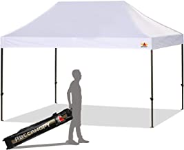 ABCCANOPY 10 x 15 Ez Pop-up Canopy Tent Commercial Instant Canopy with Roller Bag, White