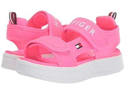 Tommy Hilfiger Kids Leomi (Little Kid/Big Kid) (Neon Pink Sportbuck) Girl